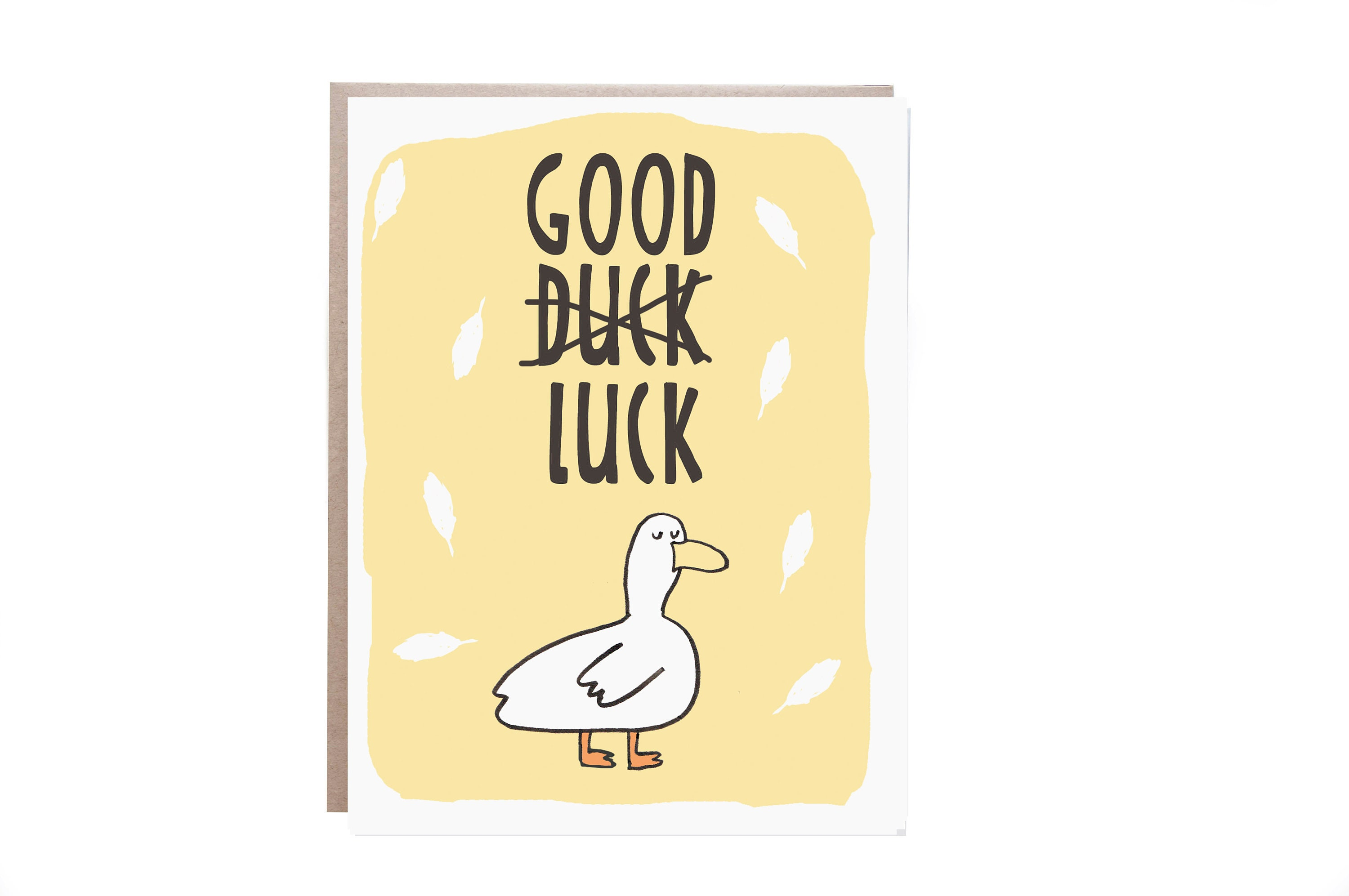 Good Luck Card Encouragement Card Funny Good Luck Duck