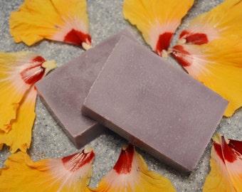 Tropical Flower Soap, Handmade Bar Soap