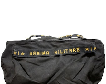 80s vintage Italy Military duffle bag  made in Italy
