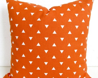 ORANGE PILLOW Cover Orange Pillows Orange Throw Pillows Orange Pillow Covers 16x16 18 20 All Sizes. Orange Dots Arrows Pillows Home decor