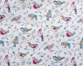 3997 - Cath Kidston Little Birds (Offwhite) Cotton Fabric - 53 Inch (Width) x 1/2 Yard (Length)