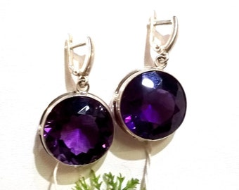 "Natural Amethyst Earrings ""Viola"""