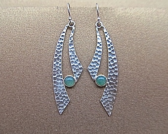 Sterling silver and adventurine earrings
