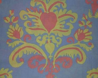 Kaffe Fassett Collective fabric by the yard. Burlesque Brocade BM 17 by Brandon Mabley. 100% cotton. Rowan Westminster fibers.