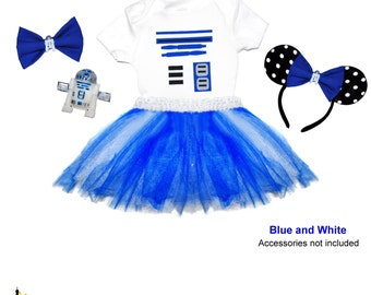 R2D2 Inspired Tutu Set - Star Wars Jedi Droid