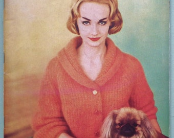 Vintage Vogue Knitting Book No 54 1959 1950s knitting patterns women's sweaters jumpers cardigans 50s original patterns retro designer knits