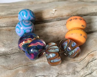 INVENTORY REDUCTION - Handmade Artisan Lampwork Boro Beads - 4 Earring Pairs