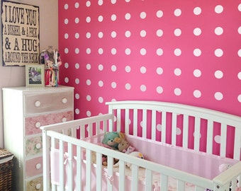 Polka dot Wall Decals Geometric Decal Peel and stick Nursery Wall Decals, dots mural, Vinyl Wall Decal AI008