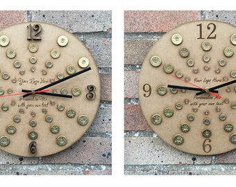 Custom Shotgun Shell CLOCK - personalised to your requirements