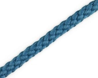 1 m cotton cord jeans Blue 8 mm