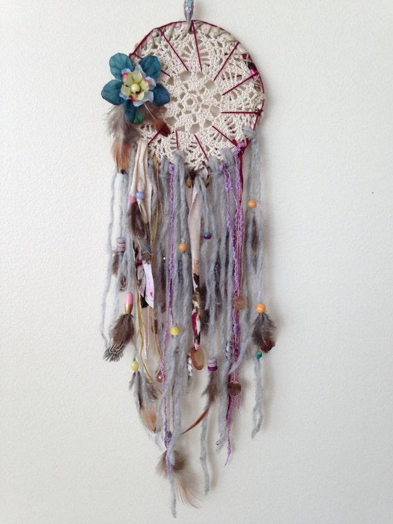 20 Dreamy Boho Room Decor Ideas: Medium 20 Handmade Boho Chic Dreamcatcher: Handmade