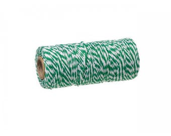 100 m spool Twine Baker's Twine Style green and white