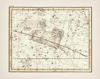 Aries the Ram Zodiac Sign Constellation - AS-13 - Fine art print of a vintage scientific or pseudoscience antique astronomy illustration