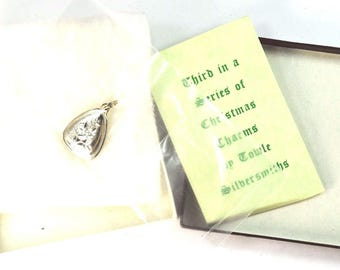 Towle Sterling Silver Charm 12 Days of Christmas 3 French Hens w Box and Papers