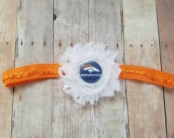 Denver Broncos headband-DENVER Broncos baby shower gift-Broncos baby-denver broncos newborn/denver broncos baby/baby broncos/newborn broncos