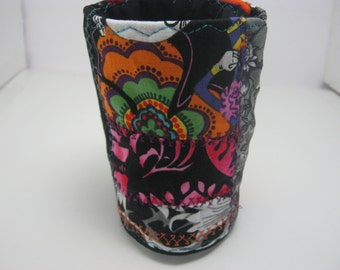 Day of the Dead Patchwork Bracelet Fabric Cuff