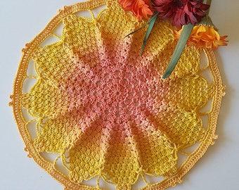 Crochet Pattern. Crochet Mandala Pattern. Mandala Doily Pattern. Twisted Pie Mandala. Instant Download PDF Crochet Pattern