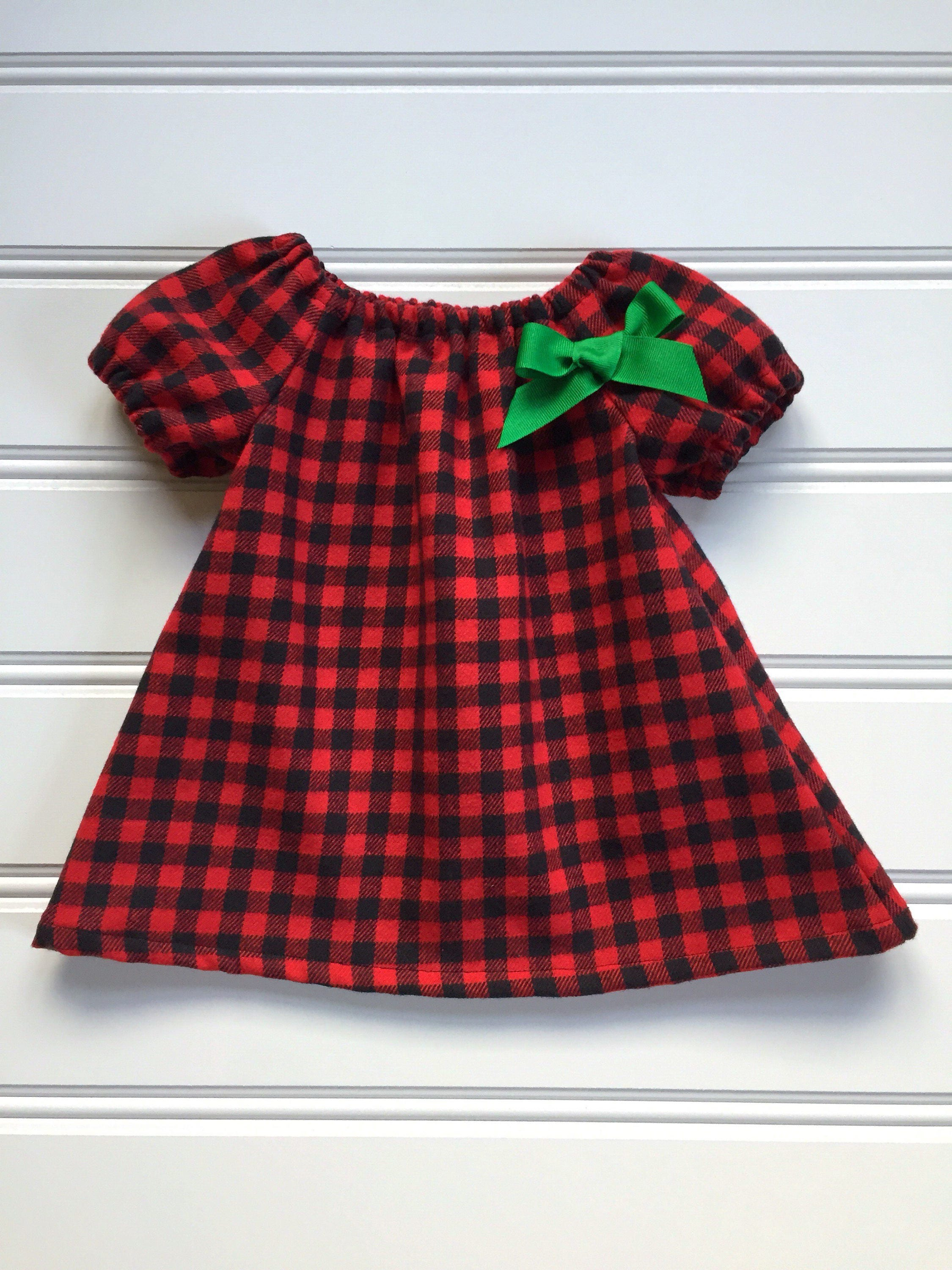 Baby Christmas Dress Plaid Baby Dress Girl Christmas Dress