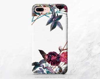 iPhone 8 Case iPhone X Case iPhone 7 Case Vintage Floral iPhone 7 Plus Case iPhone SE Case Tough Samsung S8 Plus Case Galaxy S8 Case FM17
