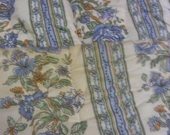 Vintage Sears blue flower comforter