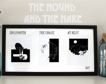 The Hound and the Hare Print
