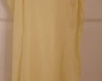"Vintage Briermaid 1960s lemon yellow slip nightie 42"" original tag"