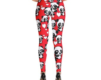 Pandas and Hearts Leggings