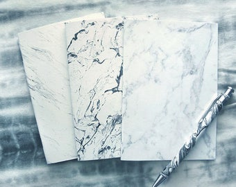 Marble A6 notebooks - 3 designs, choose 1 or get them all!