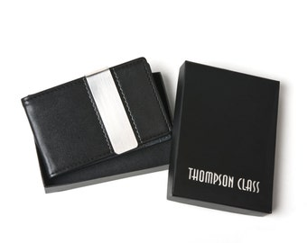 Gifts for Men - Money Clip Wallet - 6 Colors Available - Leather Wallet - Minimalist Wallet - Men's Accessories - Groomsman Gift