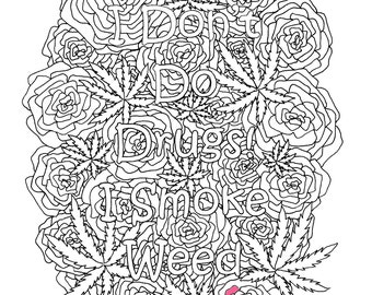coloring pages weed - stoner coloring book etsy