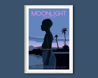 Moonlight film poster print in various sizes