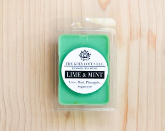 Mint Mojito Wax Melts || Hand Poured || Organic Soy Wax // Clamshell Melts