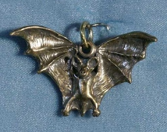 Flying Bat Bronze Pendant Charm