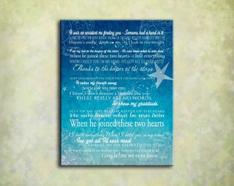 Keeper of the Stars - Tracy Byrd Lyrics Love Ballad - Word Art Print - Variety - print, poster, canvas - your choice FREE SHIPPING!