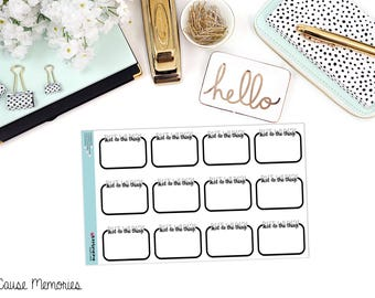 JUST DO the THING Functional Paper Planner Stickers