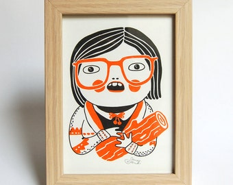 LOG LADY - Riso Print, without frame, Twin Peaks, 13x18