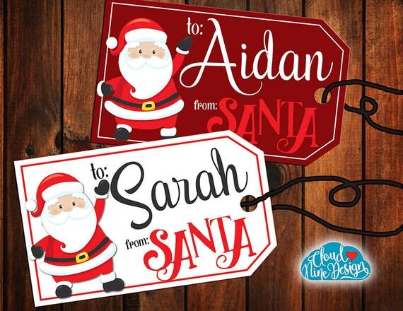 santa gift tags christmas gift tags from santa printable