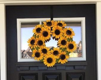 Fall Wreath - Spring Wreath - Summer Wreath - Flower Wreath - Fall Decor - Sunflowers - Yellow Wreath