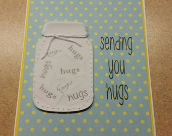 Sewn  Handmade Friendship Card.  Just Because Card. Thinking of you Card. Encouragement.