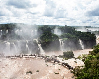 Brazil, Iguazu Falls, waterfall, ladscape photography, Brazil photography, large wall art print, professional photo, fine art #020