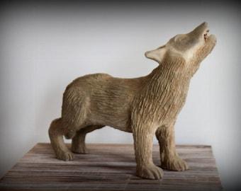 Clay Sculpture - Werewolf / Sculpture en Terre - Loup-Garou