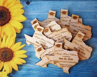 50 Graduation Save the Date Magnets, state save the date magnets, graduation magnets