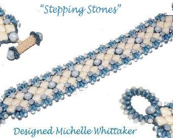 Stepping Stones Needlework Bracelet Tutorial PDF