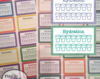 Hydration Planner Stickers or Footer (28) Variety for Erin Condren Vertical Recollections Happy Planner Kate Spade