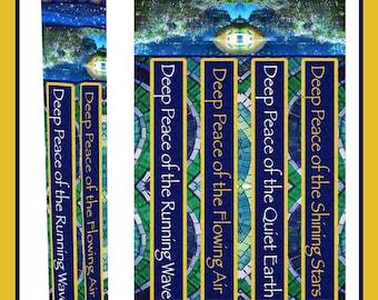 """Deep Peace Garden Peace Pole with Solar Light 52"""""""
