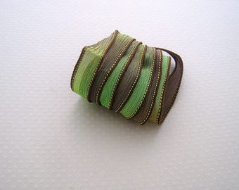 Ribbon color No. 497 hand dyed silk
