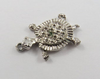 A Spotted Shell Turtle  Sterling Silver Charm or Pendant.