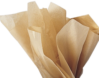 Kraft Tissue Paper . 20 x 30 inches . 24 sheets