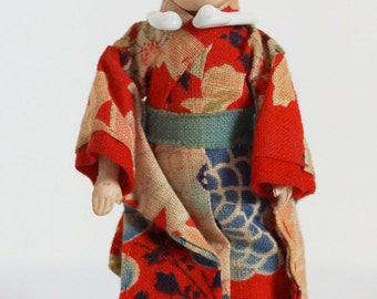 Chinese Gofun Antique Male Doll