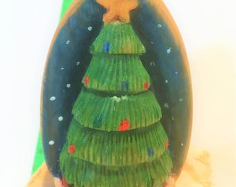Ornament, Christmas Tree, Hand carved